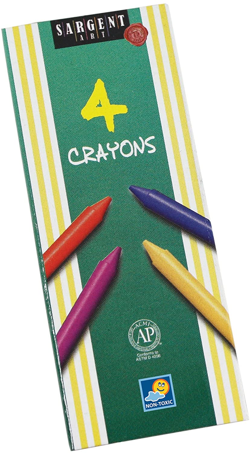 Sargent Art 55-0604 4-Count Regular Crayon, Tuck
