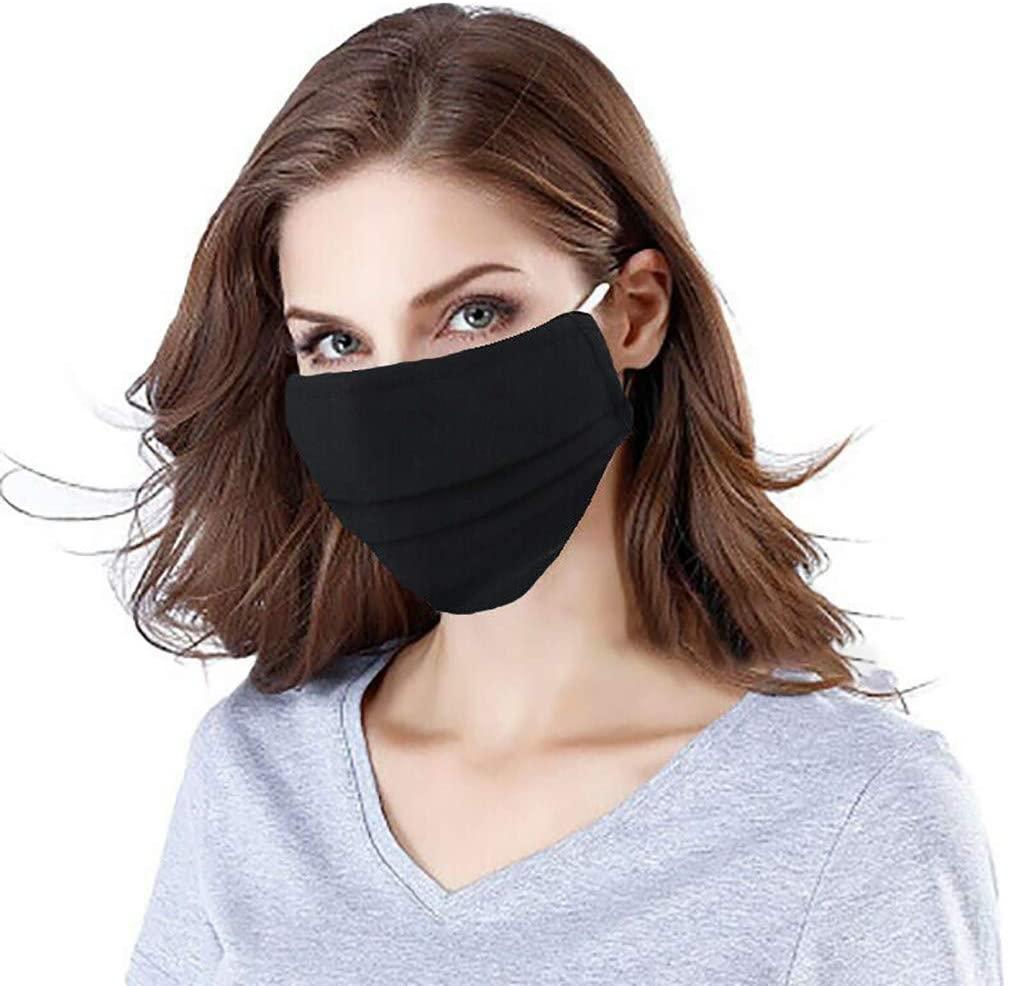 Basysin Cloth Fabric Adults Reusable Breathable Funny Printed Cycling Fashion Adjustable Washable Mouth Bandanas 1/2/6PC