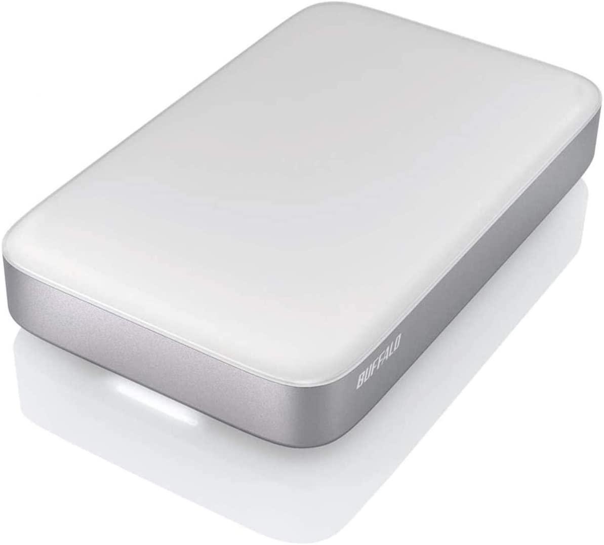 Buffalo MiniStation Thunderbolt USB 3.0 2 TB Portable Hard Drive (HD-PA2.0TU3),Silver