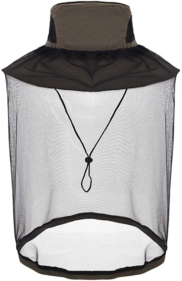 Mosquito Head Net Hat, Safari Hat Sun Hat Fishing Hats with Hidden Net