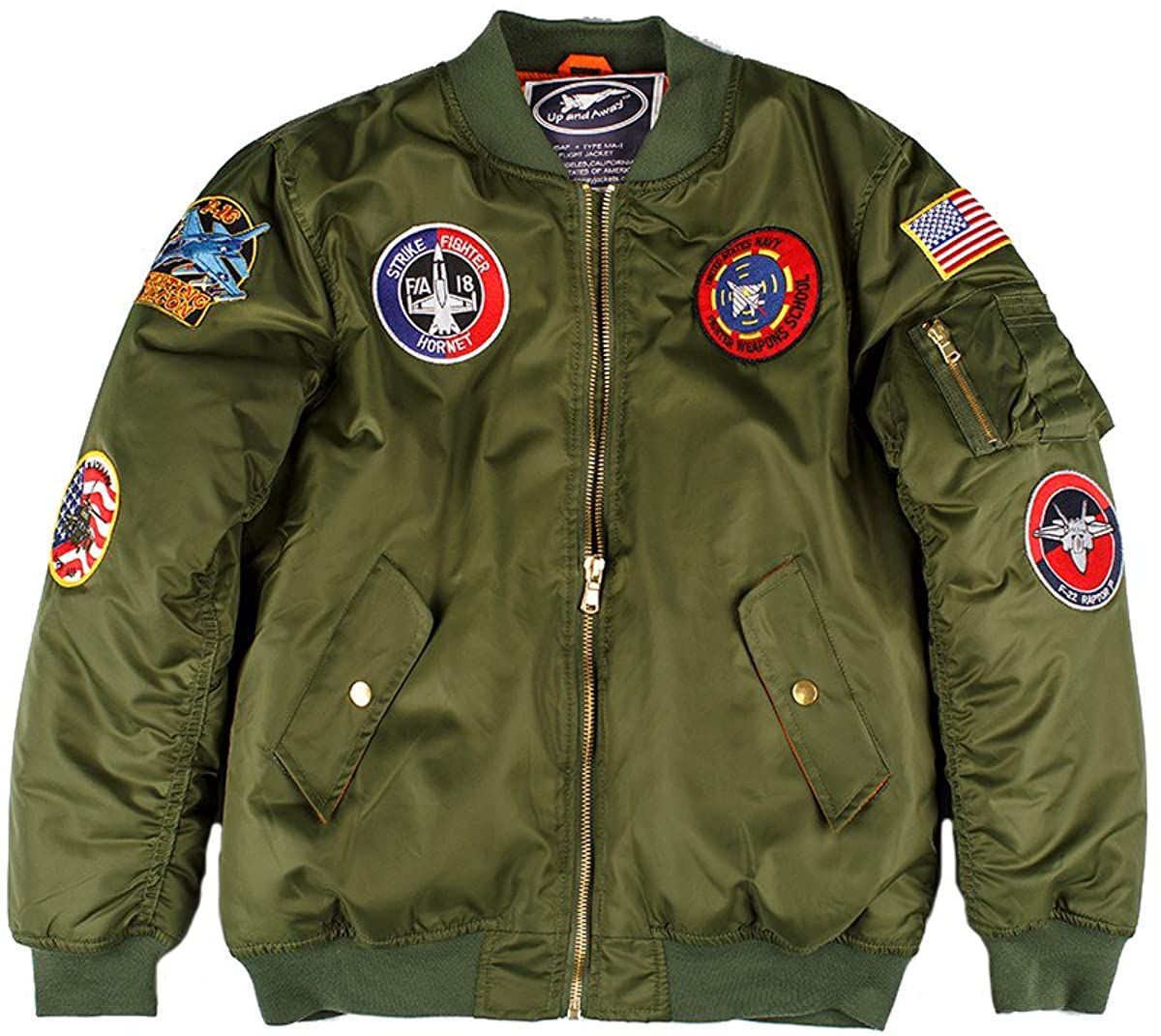 Up and Away MA-1 Flight Bomber Jacket (Green)