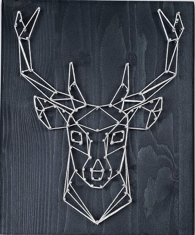 Fornel String Art Kit Deer- Bigger Size Canvas - DIY Deer Art String Crafts for Girls Kids Teens Ages 8-15