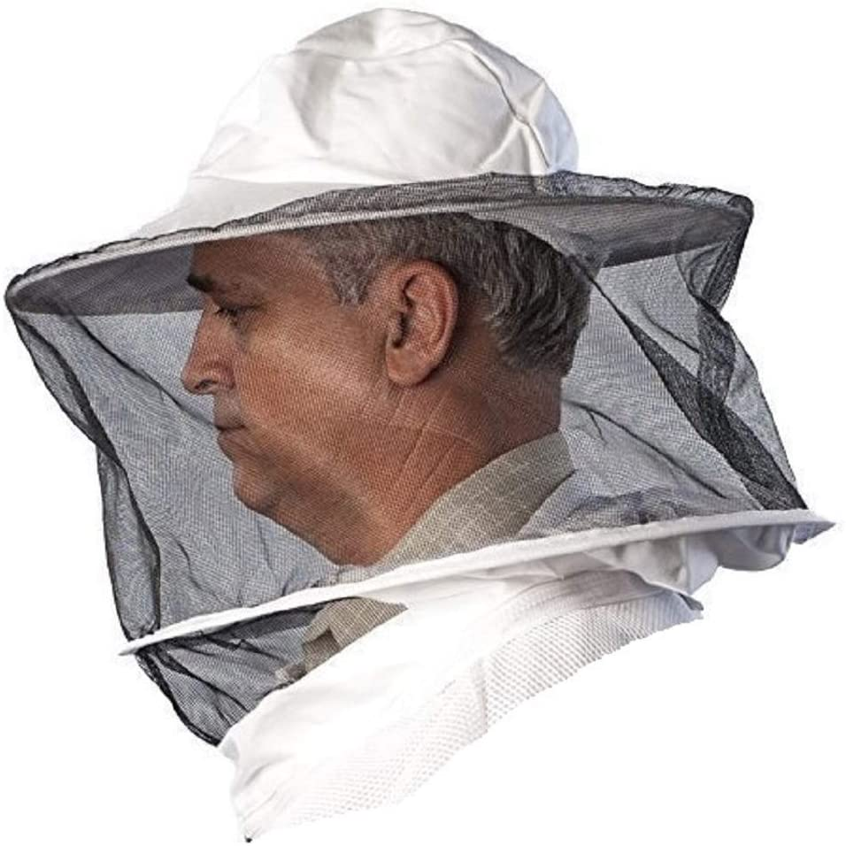 Forest Beekeeping Supply - Replacement Veil/Hood For Beekeeping Suit and Jacket M to 2XL (AirMesh (Round))