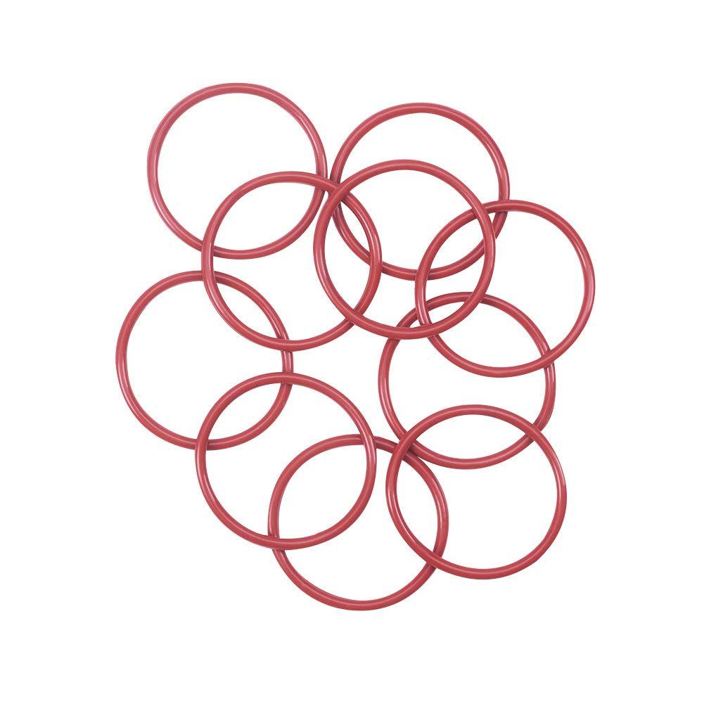 Othmro Silicone O-Ring, 37mm Outside Diameter, 32.2mm Inner Diameter, 2.4mm Width, VMQ Seal Rings Sealing Gasket Red, 10PCS