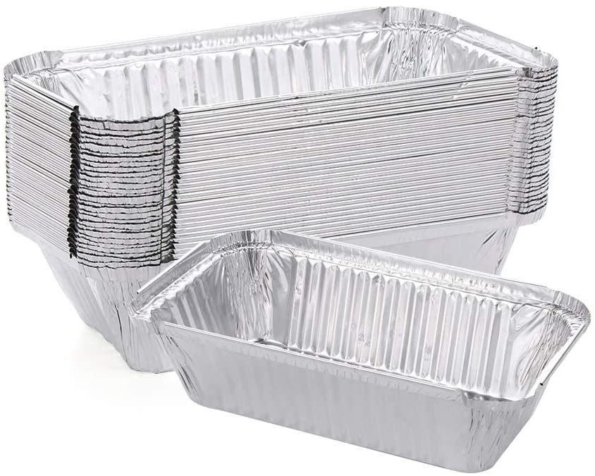 30 PCS Disposable Aluminum Foil Pot Household Barbecue Kitchen Gadget Toast Mould Bread Pan Aluminum Foil Box Toast Bread Pan BBQ Pan