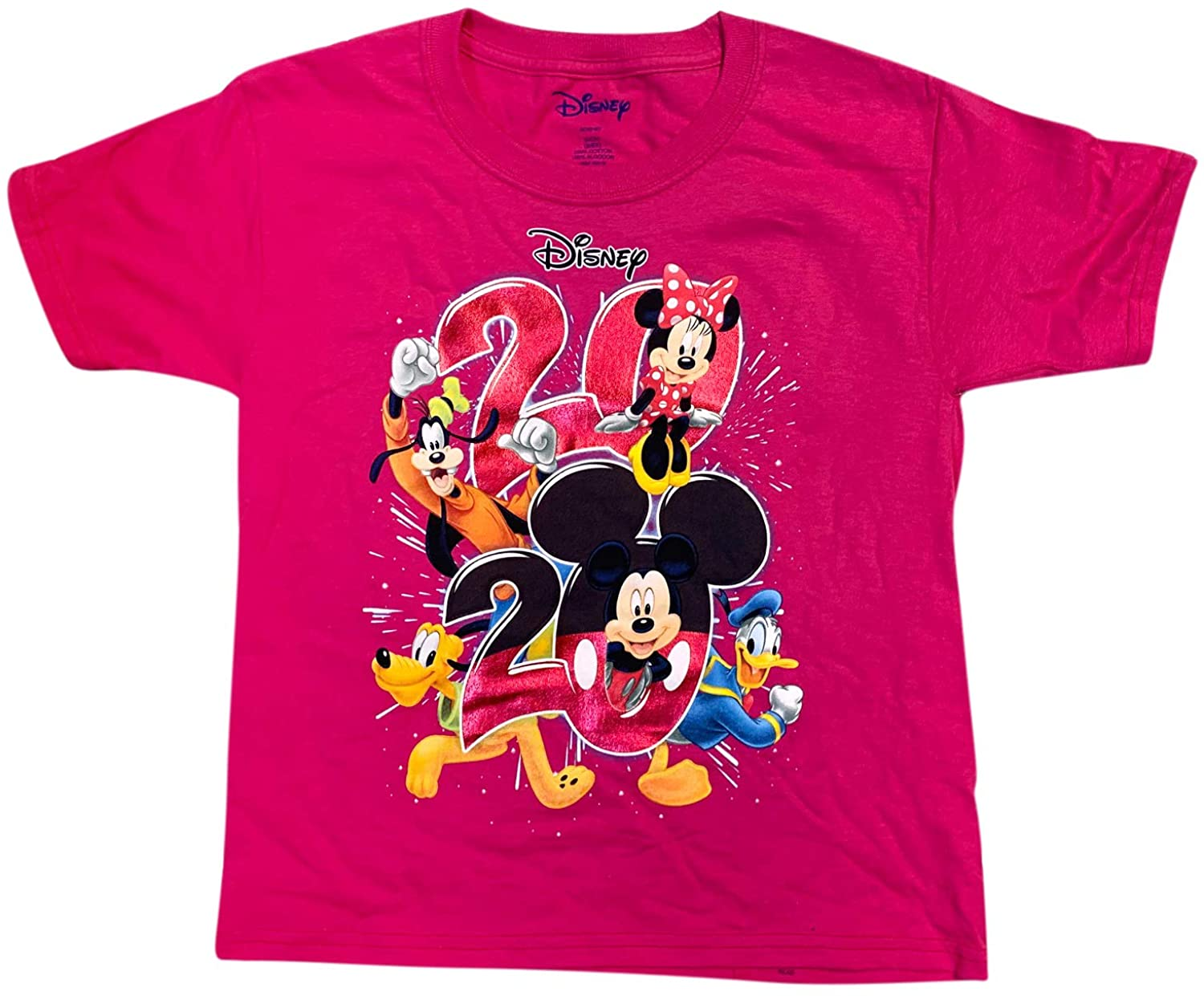 Disney Youth Unisex Pink 2020 Mickey Mouse and Friends Shirt