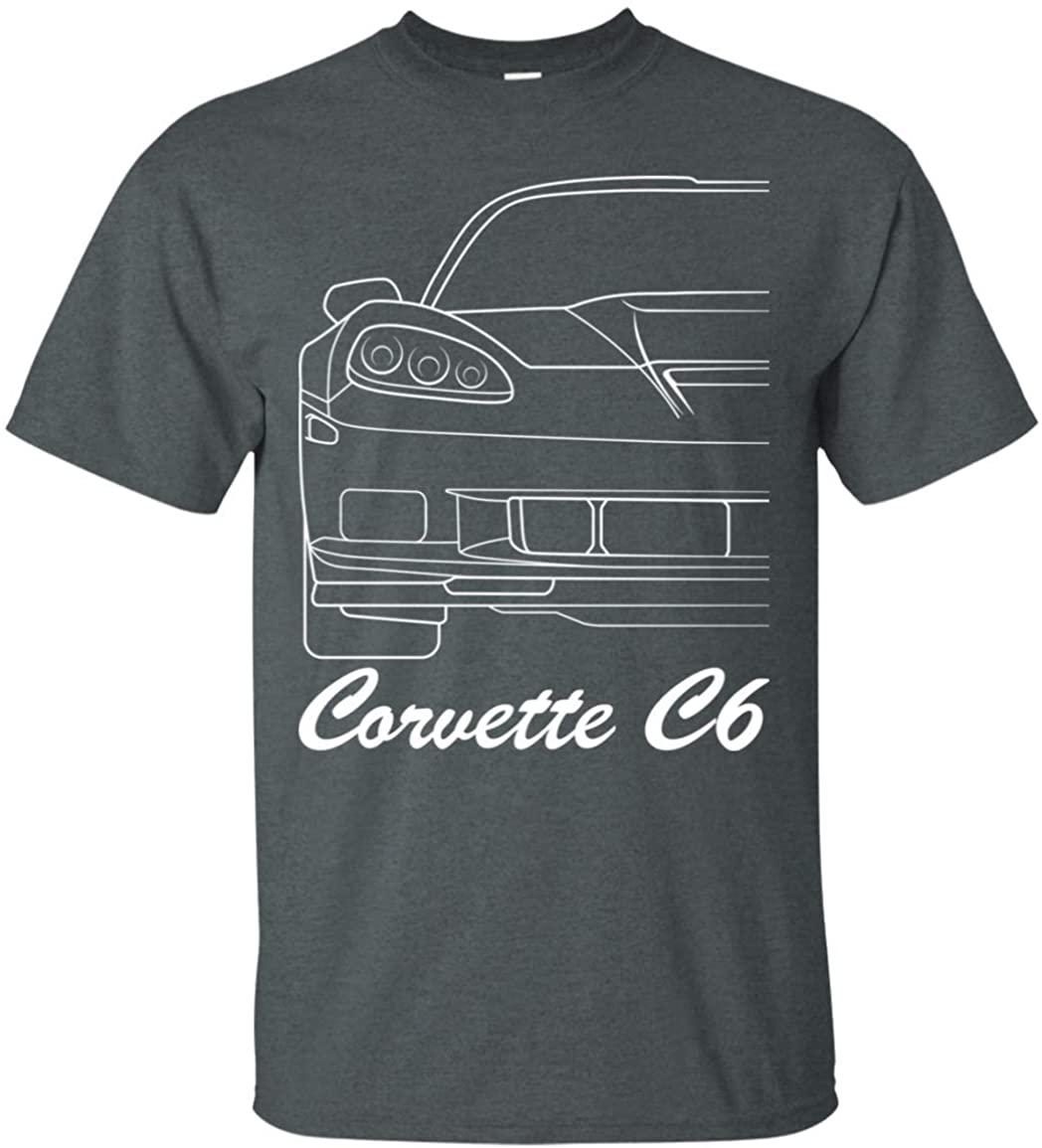 Wheel Spin Addict Men's Corvette C6 Outline T-Shirt