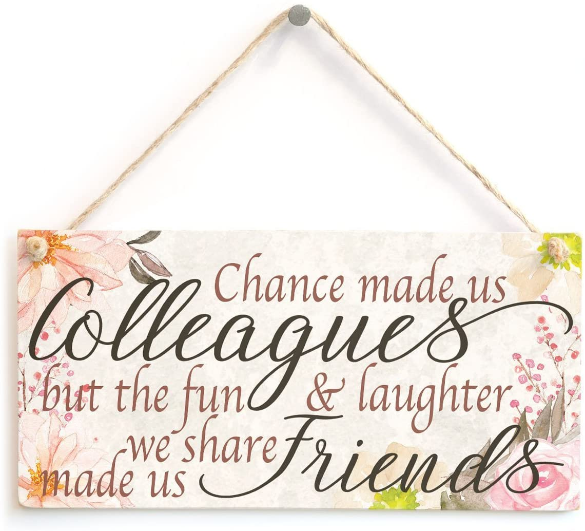Meijiafei Chance Made us Colleagues but The Fun & Laughter we Share Made us Friends - PVC Sign Co-Worker Leaving Gift 10