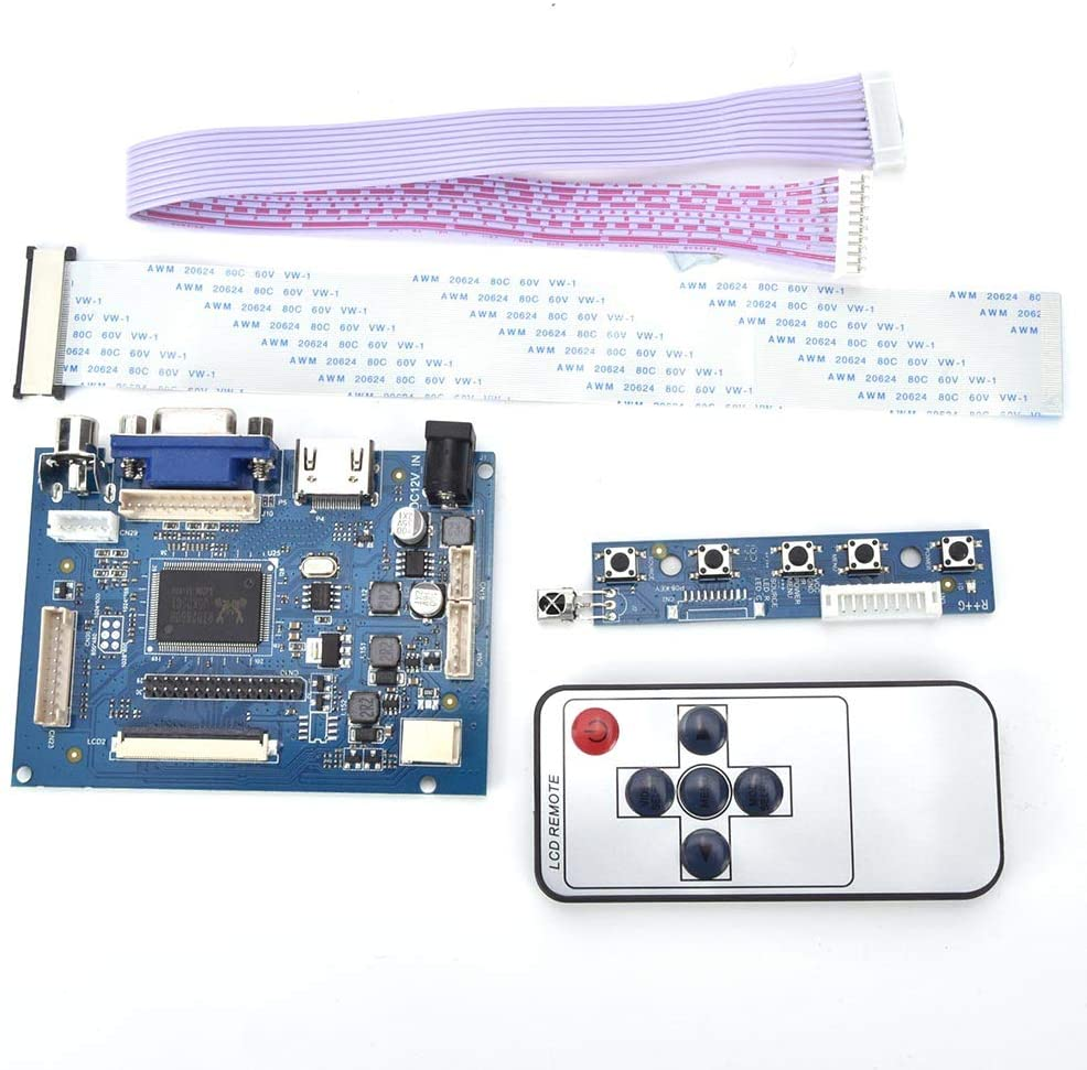 VGA LCD Controller Board,HDMI VGA 2AV Reversing Driver Board for 7inch AT070TN92 800x480 LCD Display