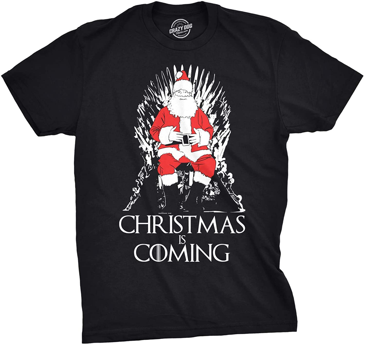 Mens Christmas is Coming Santa Claus Funny Sarcastic Novelty Top Hilarious Tee