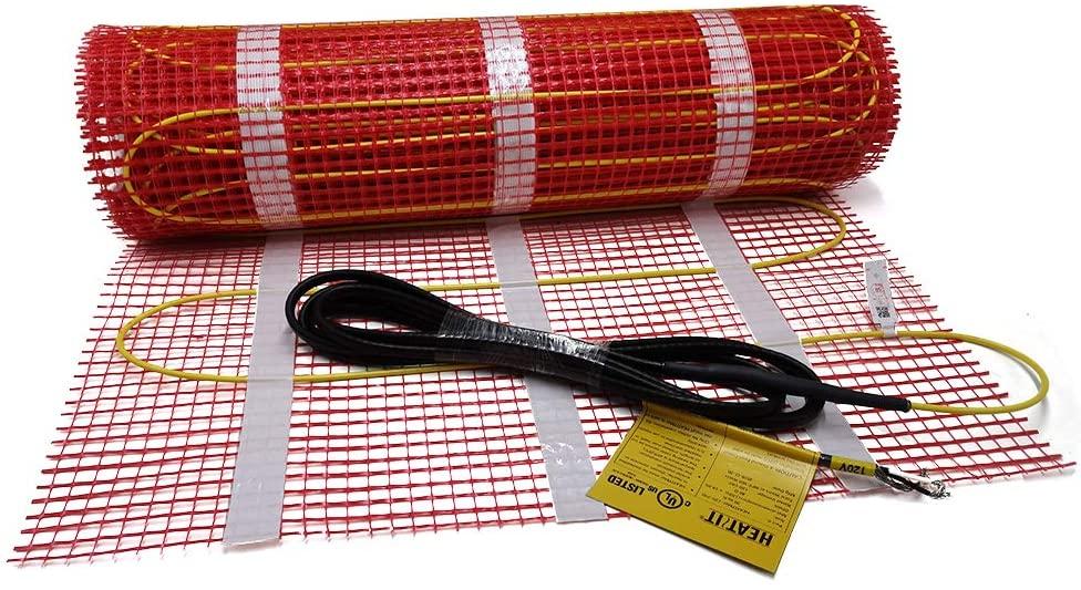 50 sqft HEATIT Warmmat Electric Radiant Self-adhesive Floor Heat Heating System