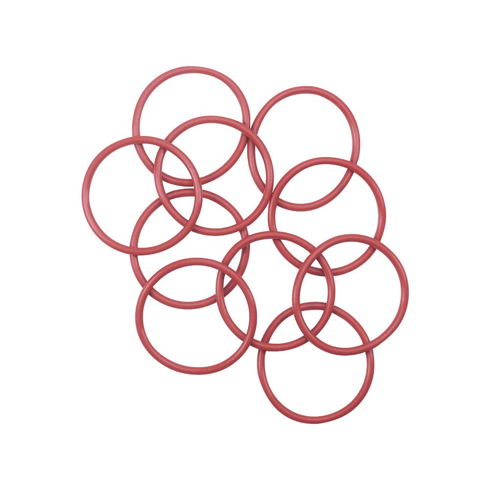 Othmro Silicone O-Ring, 46mm Outside Diameter, 39.8mm Inner Diameter, 3.1mm Width, VMQ Seal Rings Sealing Gasket Red, 10PCS