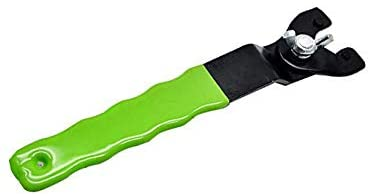 Green Y-Type Adjustable Wrench Adjustable Lock-Nut Spanner Pin Spanner Grinder Key with Plastic Handle for Angle Grinders