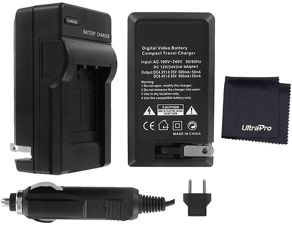 Nikon D60 Digital Camera Battery Charger (110/220v with Car & EU adapters) - UltraPro Replacement Charger for Nikon EN-EL9 Battery