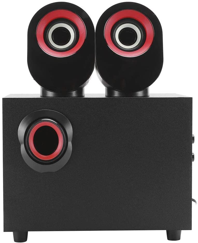 eboxer-1 USB PC Subwoofer, Multimedia Desktop Speaker, for Desktop/Laptop Computer(Red Circle Black)