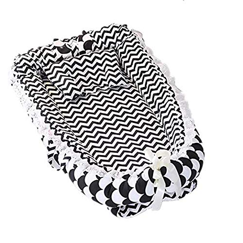 Satbuy Baby Lounger, Baby Nest Stars Portable Super Soft Organic Cotton and Breathable Newborn Lounger - Perfect for Co-Sleeping