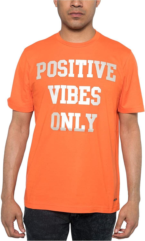 Sean John Mens Positive Vibes Only Embellished T-Shirt