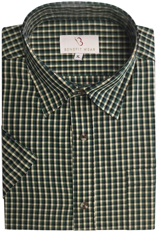 Benefit Wear Adaptive Men's Front Hook-and-Loop Closure Shirt