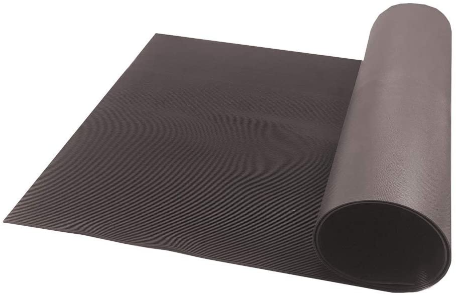 Resilia V-Groove Professional Utility Runner – Brown, 27 Inches Wide X 6 Feet Long, Heavy Duty Floor Runner, Made in The USA
