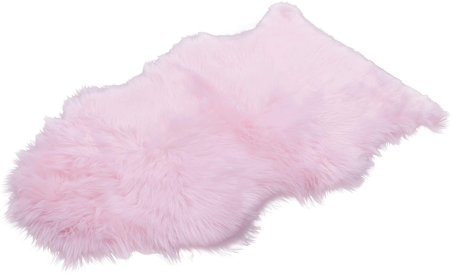 Silky Super Soft Faux Sheepskin Shag Rugs All Machine Washable. Great for Photography or a Bedroom Get The Real Look Without Any Guilt of Harming Animals (Single Pelt (2'x3'), Pink)