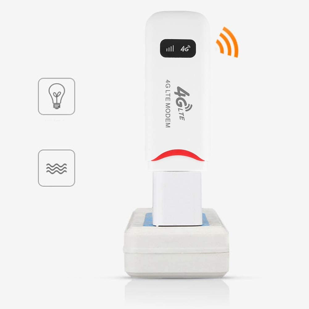 Yoidesu 4G LTE USB WiFi Modem,100Mbps Mobile WiFi Router,Network Hotspot,3G 4G WiFi Modem,Router,Support LTE B1/B3/B7/B8/B20 SIM/USIM Card with FDD,WCDMA,TF Card Slot up to 32GB,Portable WiFi Stick