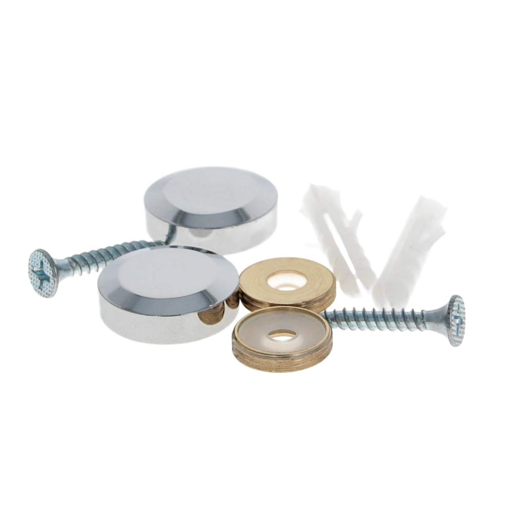 MroMax Mirror Screws Decorative Cap Cover Nails Polished Stainless Steel 22mm 2pcs