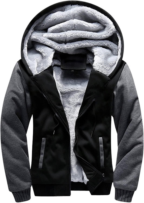 TOLOER Men's Pullover Winter Fleece Hoodie Jackets Full Zip Warm Thick Coats