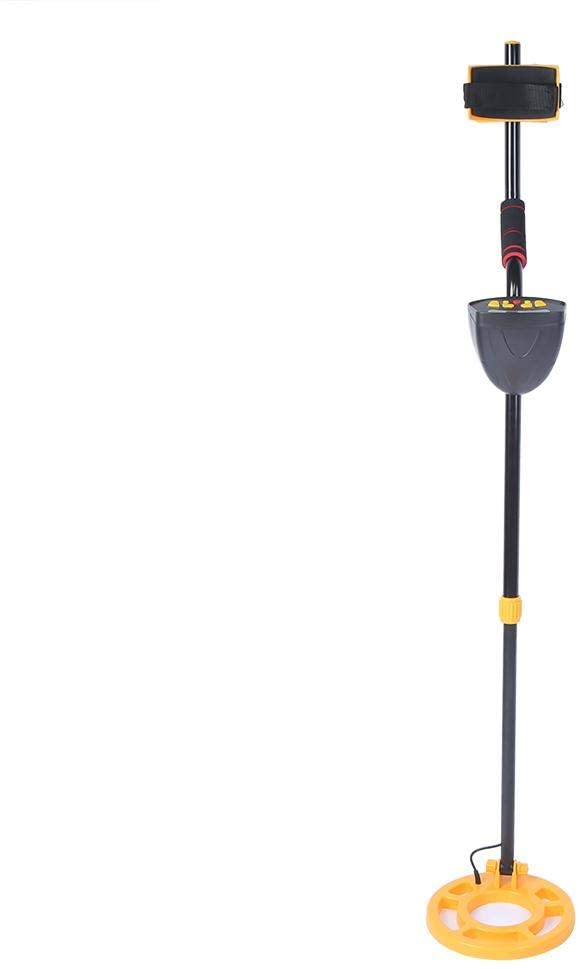 NITRIP Gold Finding Tool Metal Detector, Adjustable LCD Locator Portable Metal Searching Tool, MD5050 Archaeology for Exploration(Yellow Handle)