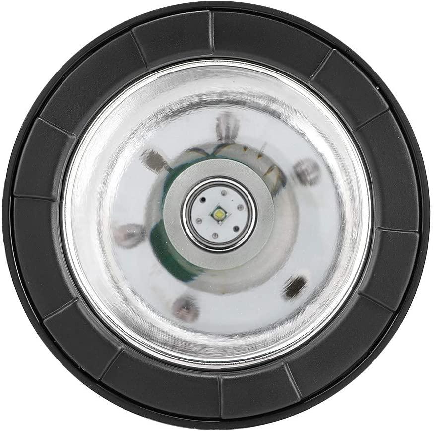 Acouto Waterproof Handheld LED Lamp, Super Bright Outdoor 35W 5inch T6 LED Lamp Handlamp Handheld Spotlight Color Temperature 6000K Car Charging Portable Torch Searchlight