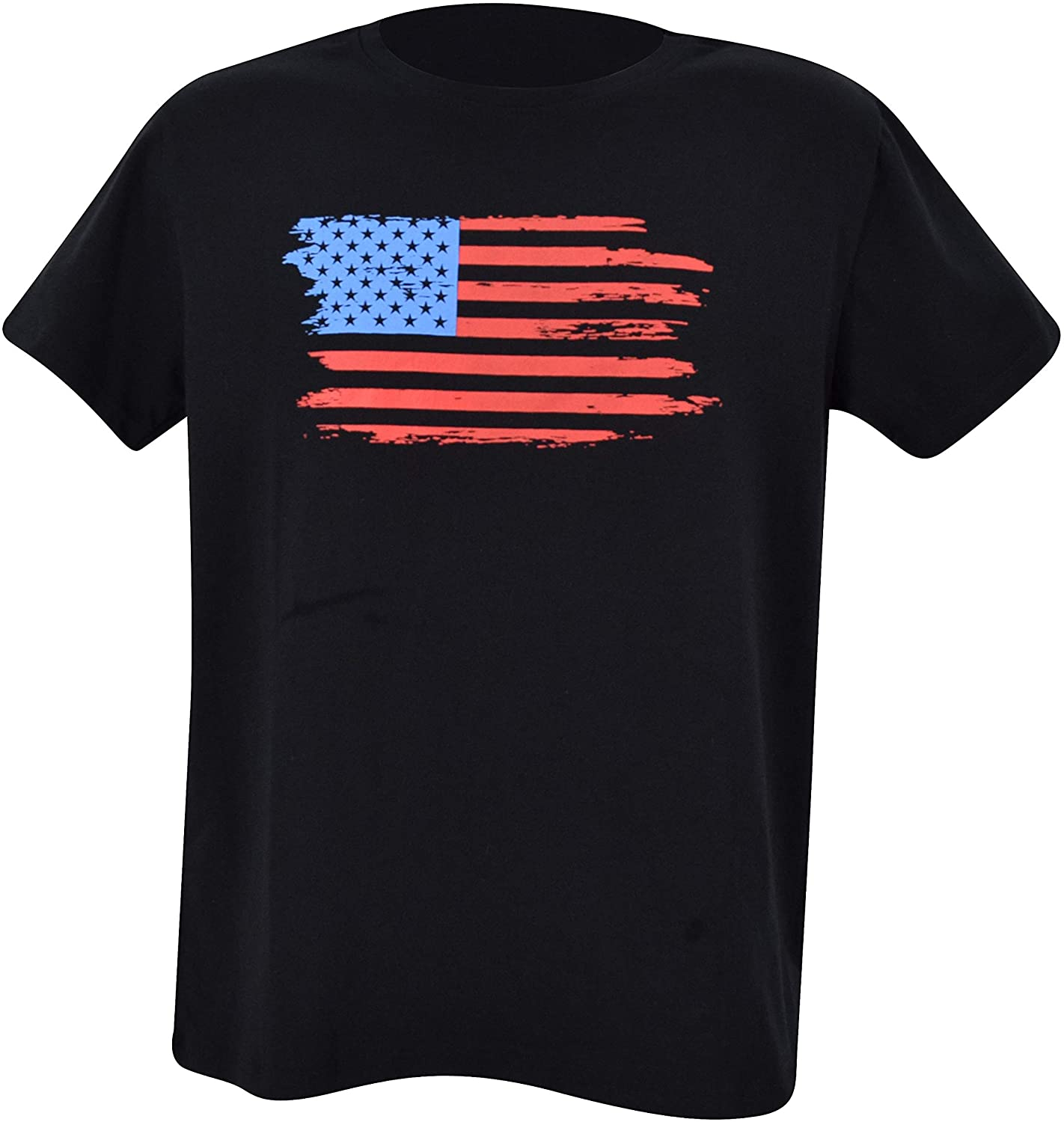 Unique Baby UB Men's American Flag 4th of July T-Shirt