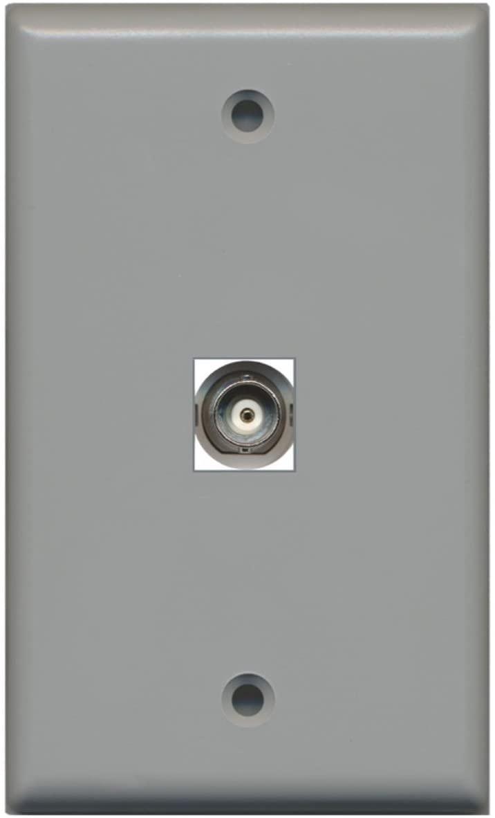 RiteAV BNC Video Wall Plate with Keystone Coupler Type Jack - 1 Port - Gray