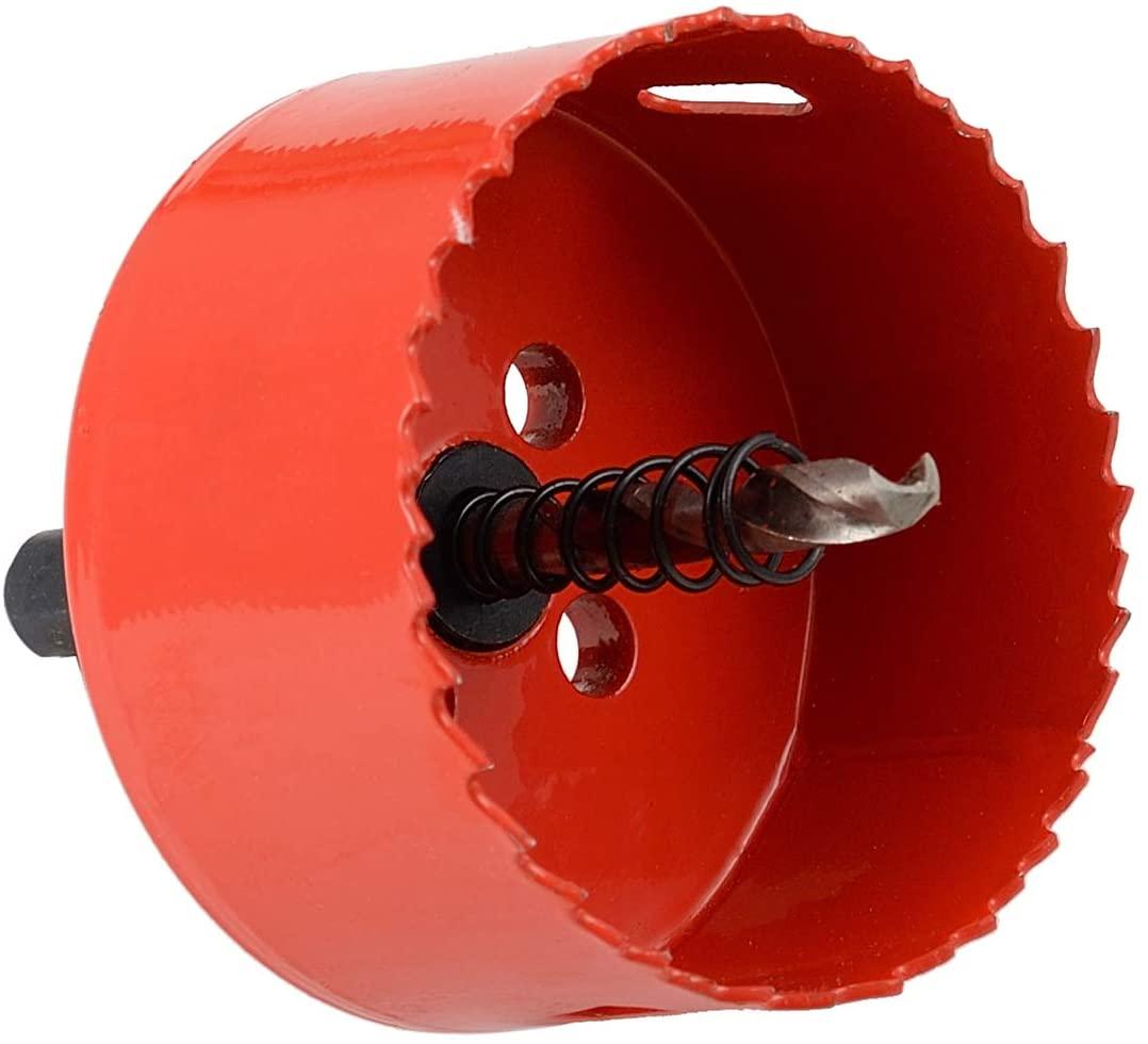 Bi-Metal Hole Saw 2-3/4 Inch, 27mm Cutting Depth HSS M 42 Hole Cutter for Cutting Wood, Plastic, Drywall, Plasterboard and Soft Metal Sheet