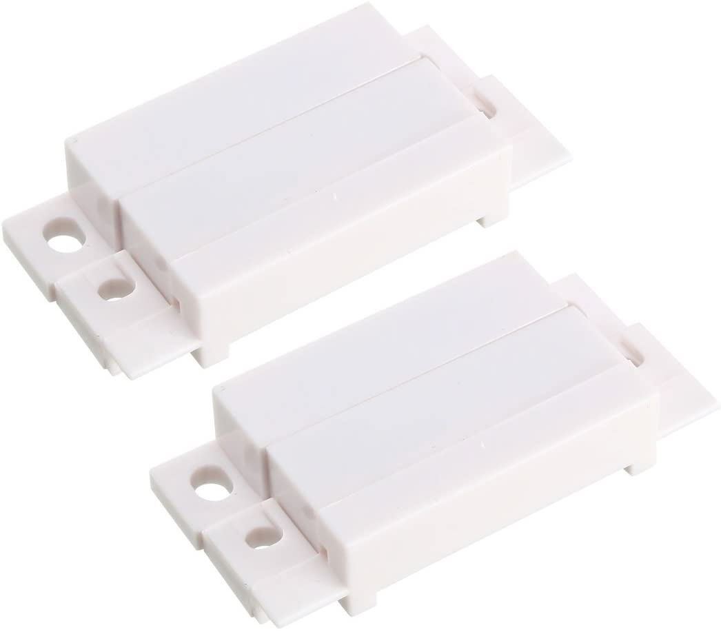 uxcell 2pcs MC-31 Surface Mount Wired NC Door Contact Sensor Alarm Magnetic Reed Switch White
