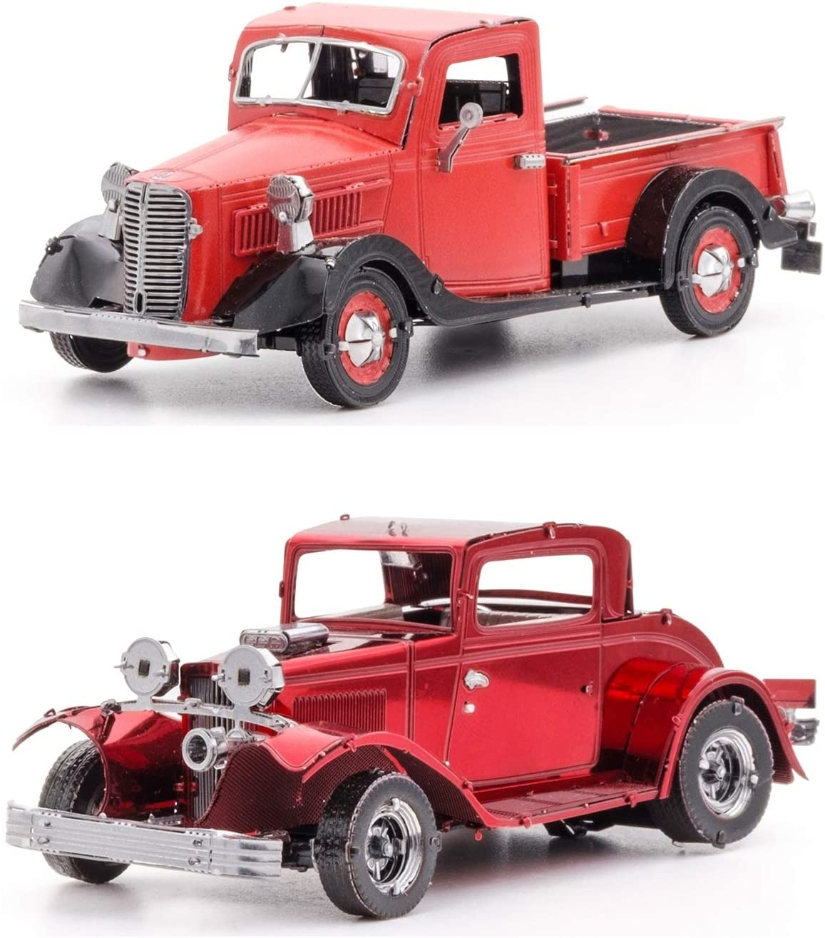 fascinations Metal Earth 3D Metal Model Kits Ford Set of 2 - 1932 Coupe - 1937 Pickup