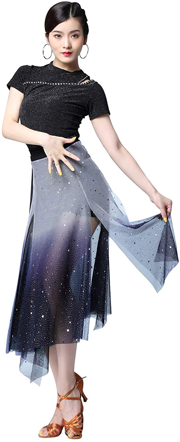 ZX Womens Ballroom Latin Salsa Belly Dance Costume Sexy Off Shoulder Top and Shorts Hip Scarf 3 Pieces Outfits