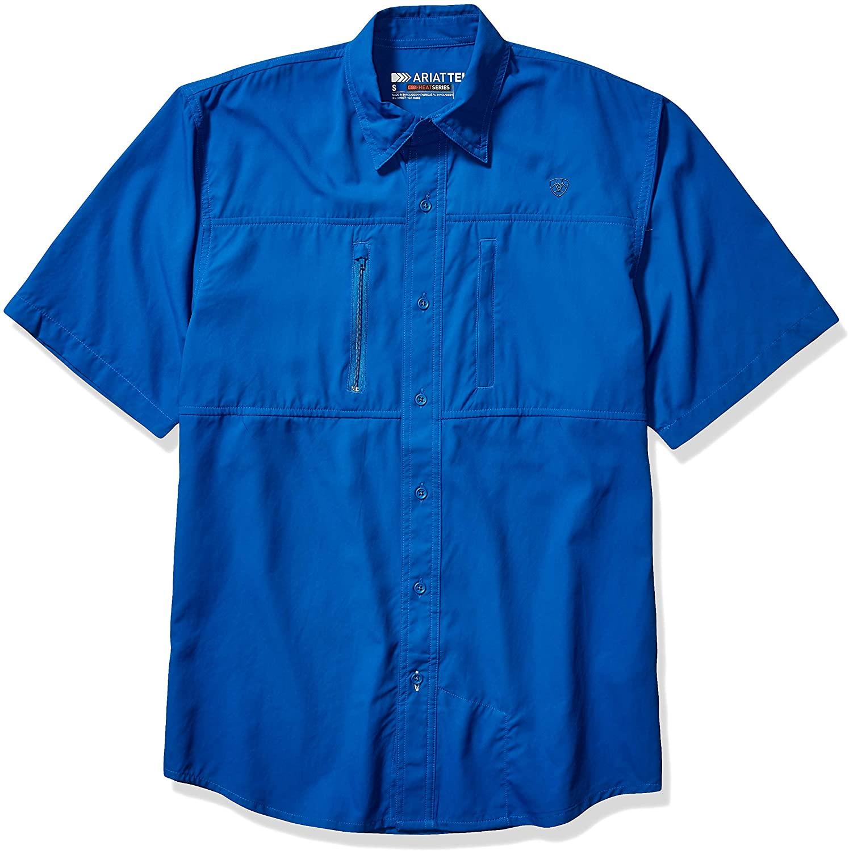 ARIAT Men's Classic Fit Short Sleeve Venttek Shirt