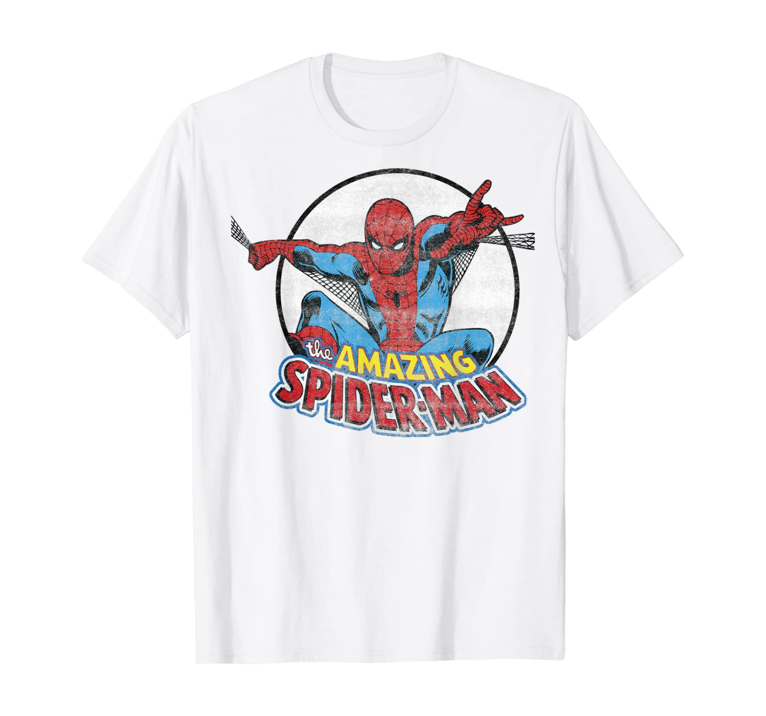 Marvel Amazing Spider-Man Retro Vintage Graphic T-Shirt T-Shirt