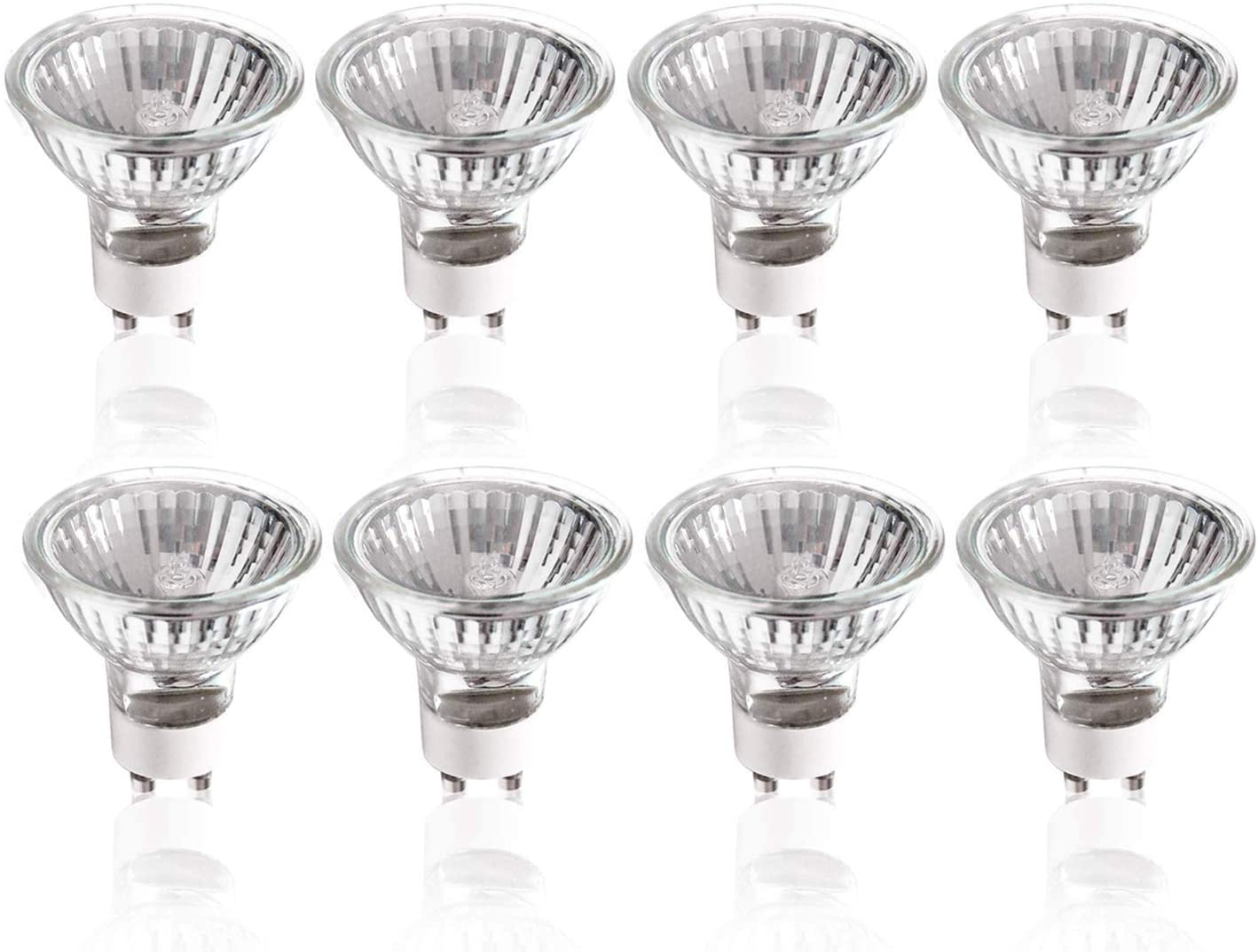 (45% Clearance) eTopLighting [8 Pack] GU10 120 Volt 50 Watt GU10 Halogen Light Bulb, GU10 50W Halogen Lamp Bulb Light, 120V 50W, (8 X) GU10-120V-50W, VPL1262