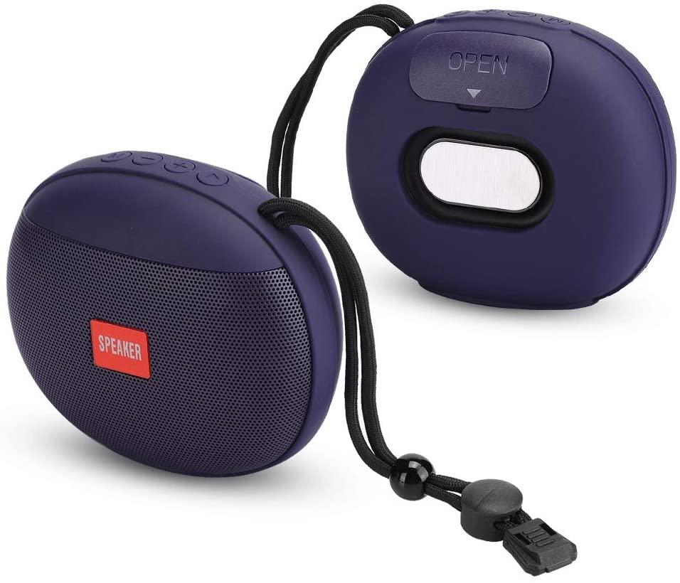awstroe Mini Portable Soundbox Supper Bass Bluetooth Speaker, Wireless for Phone for Computer(Blue)