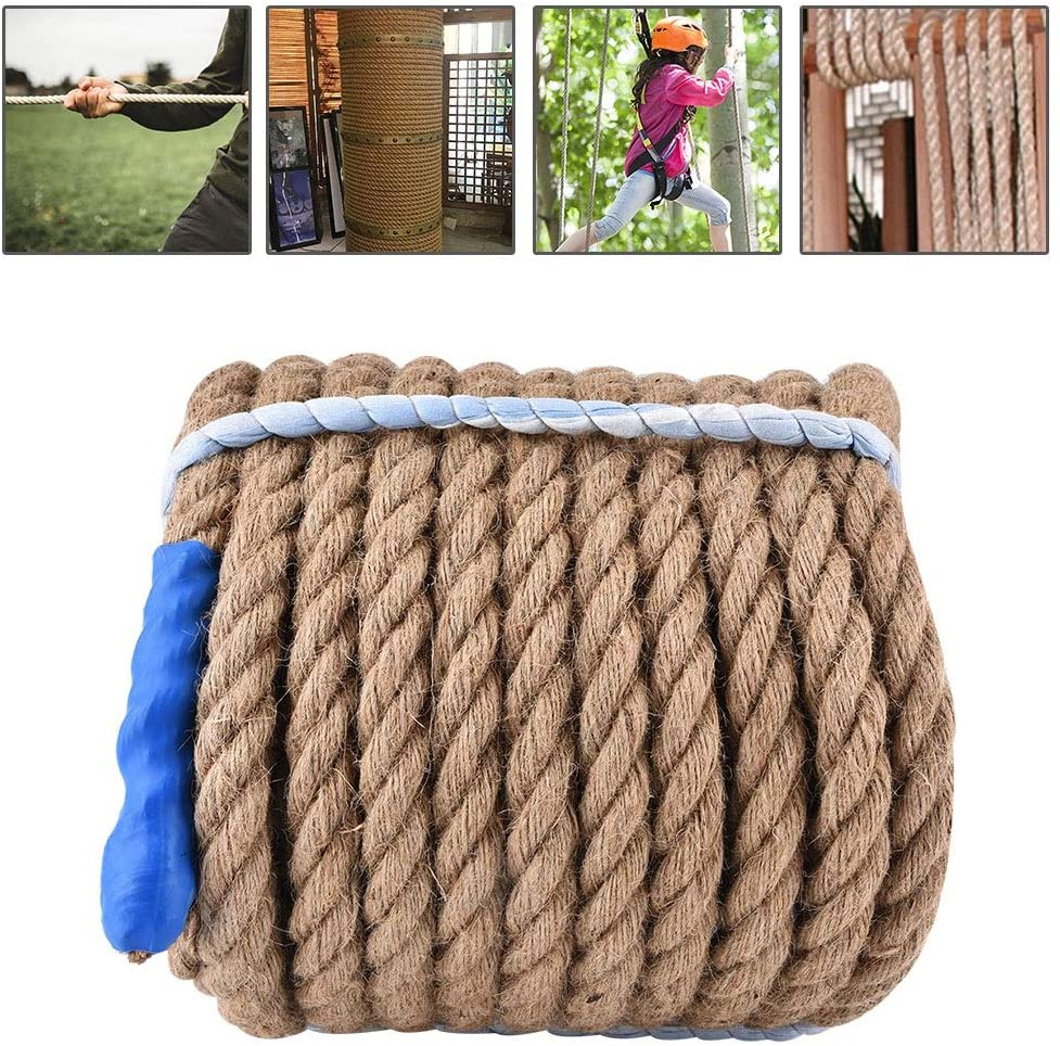 Hemp Rope-Natural Thick Jute Rope Twisted Manila Rope Hemp Rope for Fitness and Strength Training