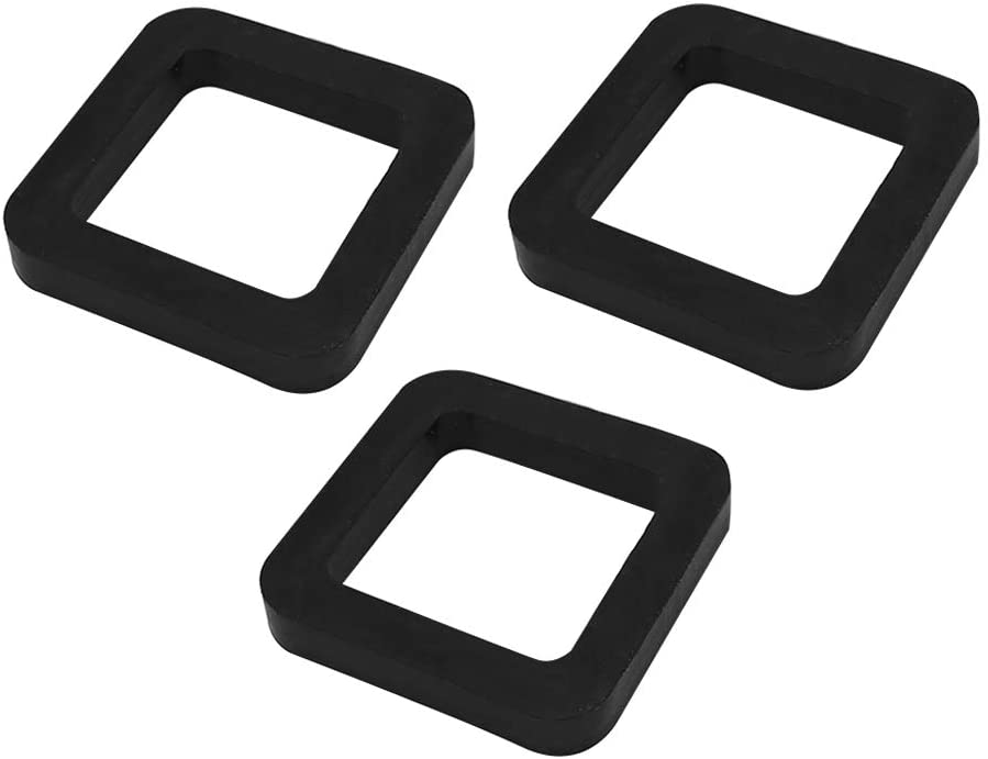 Vkinman 2 Inch Hitch Receiver Silencer Pads(3Pcs) for Adjustable Ball Mounts Provide Cushion Between Receivers and Tow Hitchs
