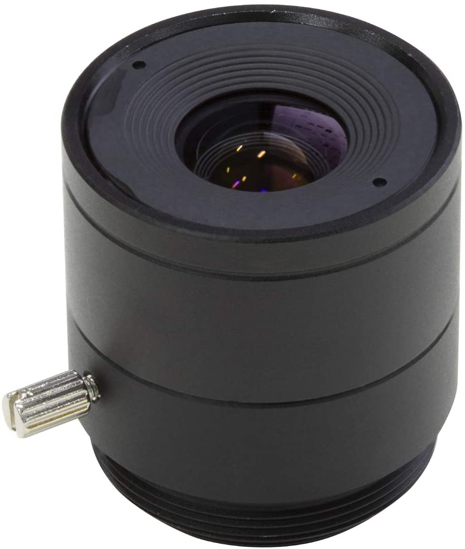 Arducam CS-Mount Lens for Raspberry Pi HQ Camera, 8mm Focal Length with Manual Focus
