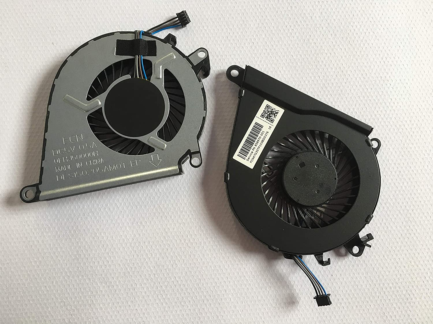SYWpcparts Replacement Fan Compatible with HP Omen 15-AX 15-AX000 15-AX100 15-AX200 Series CPU + Gpu Cooling Fan 2 Fans