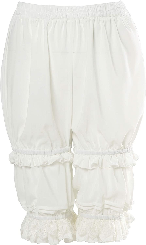 Nuoqi Lolita Bloomers Victorian Steampunk Pantaloons Ruffles Pumpkin Shorts