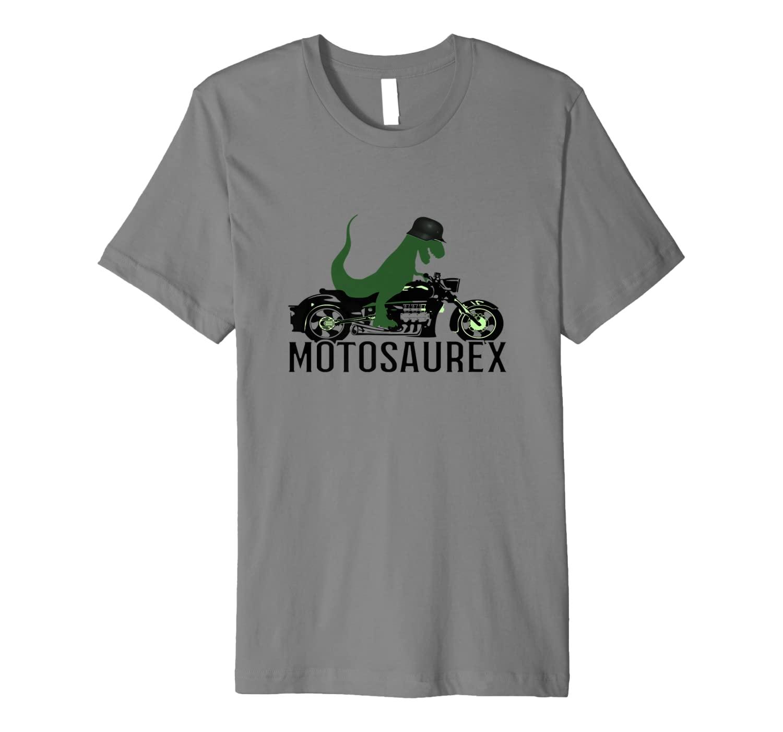 Funny Motorcycle Dinosaur T-REX T-Shirt