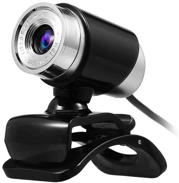 Docooler 480P Webcam USB Manual Focus Drive-Free Computer Camera with 3.5mm Audio Plug for PC Laptop