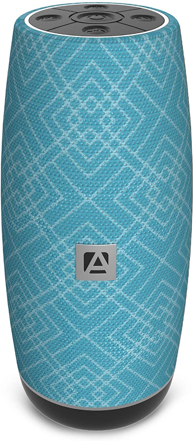 Aduro Resound XL Wireless Bluetooth Portable Speaker Loud Subwoofer Bluetooth 5.0 Audio Speaker with Crystal Clear Bass Stereo Sound - Blue/Black