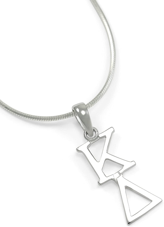 The Collegiate Standard Kappa Delta (ΚΔ) Sorority Necklace // KD Sterling Silver Lavaliere Pendant