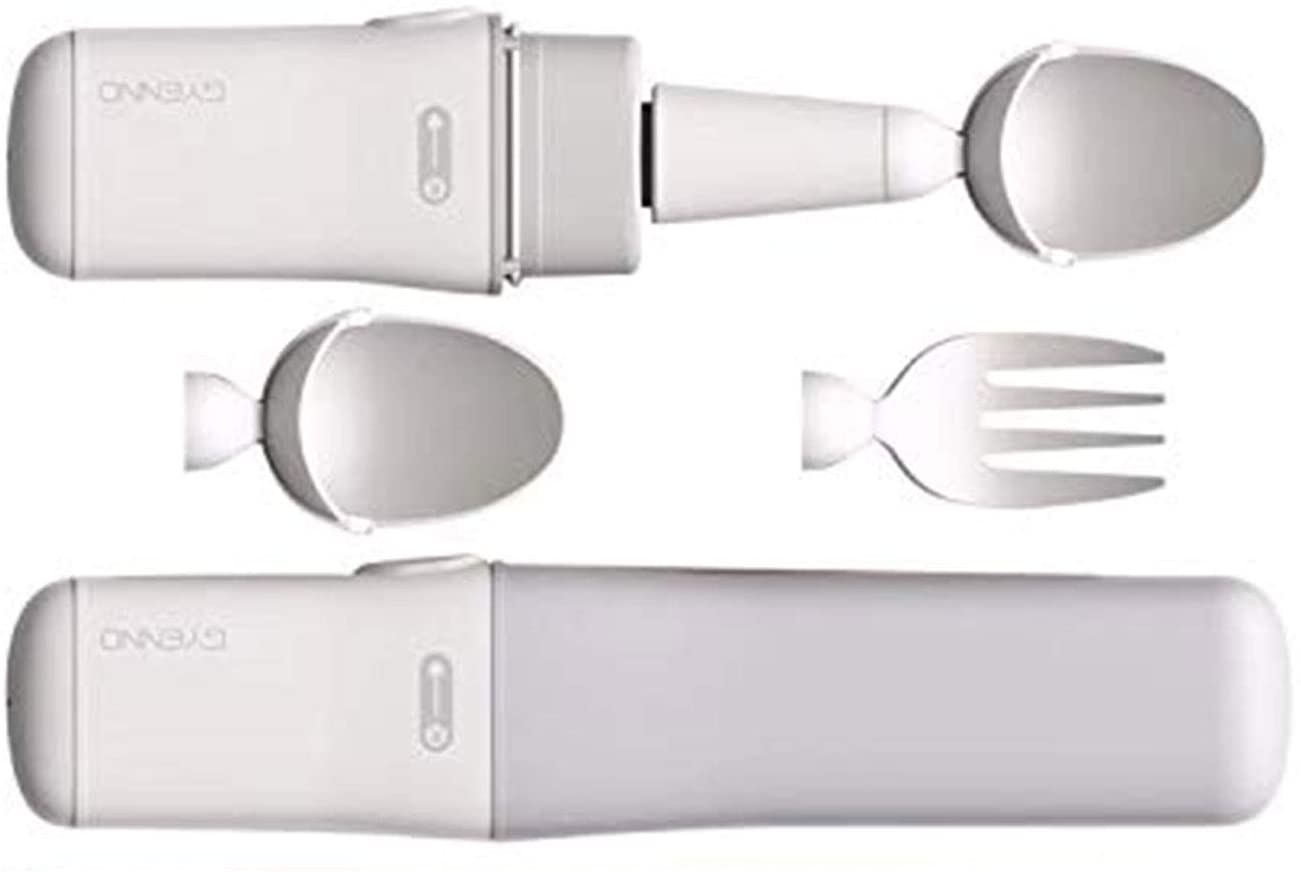 Gyenno Bravo Twist Spoon and Fork Kits for Hand Tremor or Parkinson Patients
