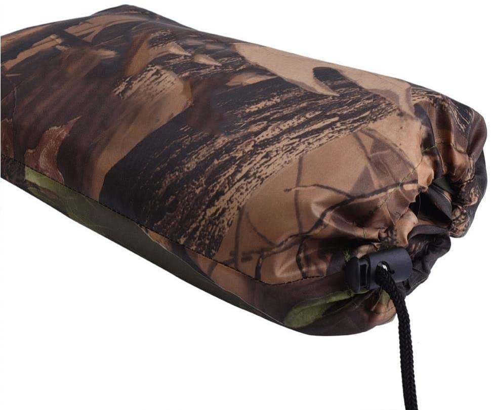 Waterproof Camping Tarp Mutifunctional Tent Footprint Camo Quick-Drying Rain Cover with Drawstring Carrying Bag